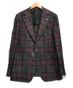 TAGLIATORE(タリアトーレ)の古着「2Bジャケット」|レッド