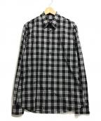 PRADA()の古着「チェックシャツ」|ブラック