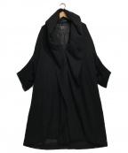 Ys()の古着「MOSSER CAPE COAT」|ブラック