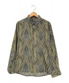 ()の古着「総柄シャツ」|オリーブ