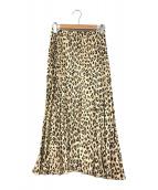 ()の古着「レオパードプリーツスカート」|ブラウン