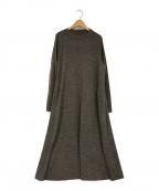 45R()の古着「ウォッシャブルインレイの45星ドレス」 ブラウン