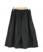 COMME des GARCONS()の古着「ギャザースカート」 ブラック