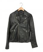 BEAMS(ビームス)の古着「シープスキンライダースジャケット」 ブラック