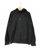 SUPREME()の古着「Micro Logo Hooded Sweatshirt」|ブラック