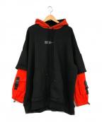 DANKE SCHON(ダンケ シェーン)の古着「レイヤードパーカー」|ブラック