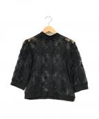CLANE(クラネ)の古着「Lace Tops」|ブラック
