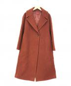 DES PRES(デプレ)の古着「ウールダブルモッサラペルカラーコート」|ブラウン