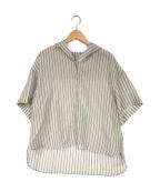 BASILE 28(バジーレ28)の古着「ストライプ フードシャツ」 グレー