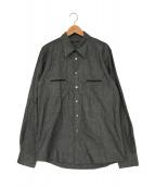 ()の古着「ジップポケットシャツ」|グレー