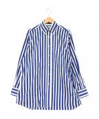 INDIVIDUALIZED SHIRTS(インディビジュアライズドシャツ)の古着「ストライプシャツ」|ブルー