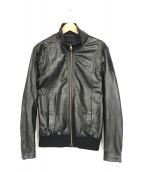 ()の古着「レザージャージジャケット」|ブラック