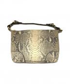 COCOCELUX GOLD(ココセリュックスゴールド)の古着「パイソン柄ショルダーバッグ」|グレー