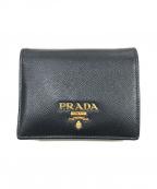 PRADA(プラダ)の古着「サフィアーノレザー財布」