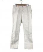 PT01(ピーティーゼロウーノ)の古着「コットントラウザーパンツ」 ホワイト