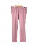 PT01(ピーティーゼロウーノ)の古着「トラウザーパンツ」 ピンク