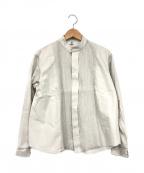 HaaT(ハート)の古着「スタンドカラーシャツ」 グレー
