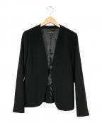 INDIVI(インディビ)の古着「ストレッチカラーレスジャケット」 ブラック
