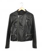 BARNYARDSTORM(バンヤードストーム)の古着「ラムレザージャケット」|ブラック