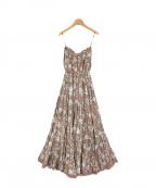 MARIHA(マリハ)の古着「草原の夢プリントドレス」 ブラウン