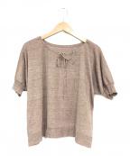 45R(フォーティファイブアール)の古着「ギマニットギャザーTシャツ」 ブラウン