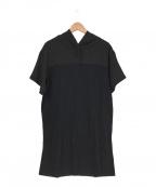 Gabardine K.T(ギャバシンケーティー)の古着「パーカーチュニック」|ブラック