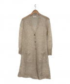 Gabardine K.T(ギャバシンケーティー)の古着「ライトモヘア ロングカーディガン」|ベージュ