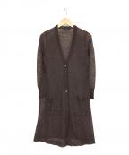Gabardine K.T(ギャバシンケーティー)の古着「ライトモヘア ロングカーディガン」|パープル