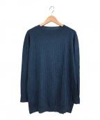 Gabardine K.T(ギャバシンケーティー)の古着「針抜きストライプ プルオーバー」|ブルー