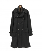 EMPORIO ARMANI(エンポリオアルマーニ)の古着「トレンチコート」|ブラック