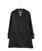 BLACK LABEL CRESTBRIDGE(ブラックレーベルクレストブリッジ)の古着「ステンカラーコート」|ブラック