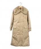 MaxMara(マックスマーラ)の古着「ラビットファー付きコート」 ベージュ