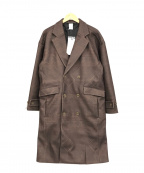 Casper John(キャスパージョン)の古着「Melton Double Chesterfield Coa」|ブラウン