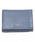FURLA(フルラ)の古着「3つ折り財布」|ブルー
