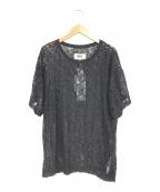 MM6 Maison Margiela(エムエムシックス メゾン マルジェラ)の古着「シアーレースブラウス」|ブラック