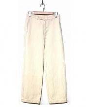 ゴーシュ(ゴーシュ)の古着「リネン混パンツ」|ホワイト