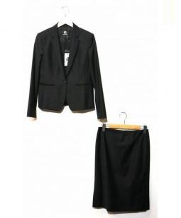 PS Paul Smith(ピーエス ポールスミス)の古着「セットアップスーツスカート」|ブラック