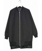 DISCOVERED(ディスカバード)の古着「ロングリブブルゾン」|ブラック