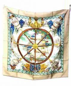 HERMES(エルメス)の古着「シルクスカーフ/KARE90」|ベージュ