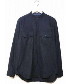 GANRYU(ガンリュウ)の古着「ウールシャツ」|ネイビー
