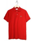 LACOSTE(ラコステ)の古着「ワンポイントポロシャツ」|レッド