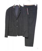 Yohji Yamamoto pour homme(ヨウジヤマモトプールオム)の古着「ウール切替2Bジャケット」|ブラック