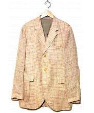 Yohji Yamamoto pour homme(ヨウジヤマモト プールオム)の古着「リネンジャケット」 ピンク