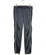 Martin Margiela 10(マルタンマルジェラ 10)の古着「サイドスナップライントラックパンツ」|ブラック