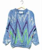 coogi(クージー)の古着「コラージュクルーネックニット」|ブルー