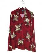 STUSSY(ステューシー)の古着「Butterfly LS Shirt」|ボルドー