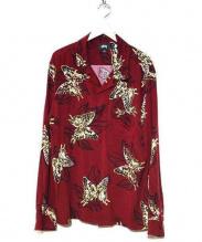 STUSSY(ステューシー)の古着「Butterfly LS Shirt」 ボルドー