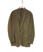 Y's(ワイズ)の古着「リネンジャケット」|オリーブ