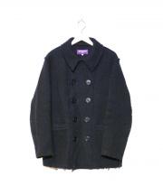 NEPENTHES(ネペンテス)の古着「カットオフ加工Pコート」|ネイビー