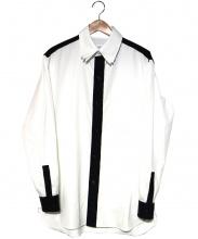 YohjiYamamoto pour homme(ヨウジヤマモトプールオム)の古着「フェルト切替レイヤードカラーシャツ」|ホワイト